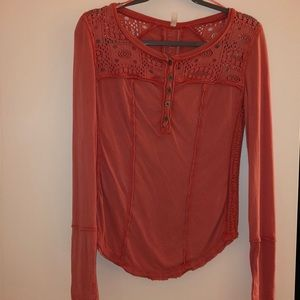 Free People Button Up Thermal